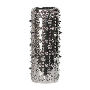 Silver spiky vase