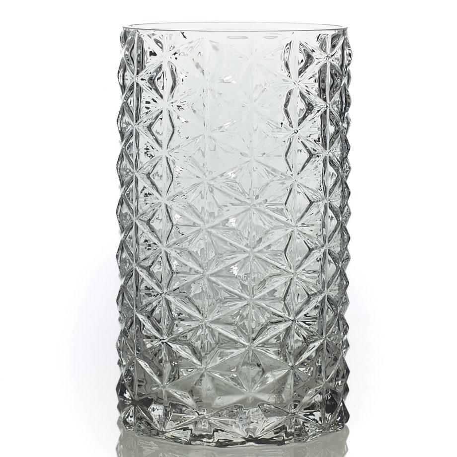"7.75"" Wickford Geometric Glass Vase"