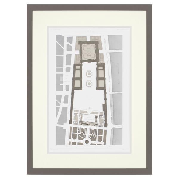 Palais Des Tuileries Map Art