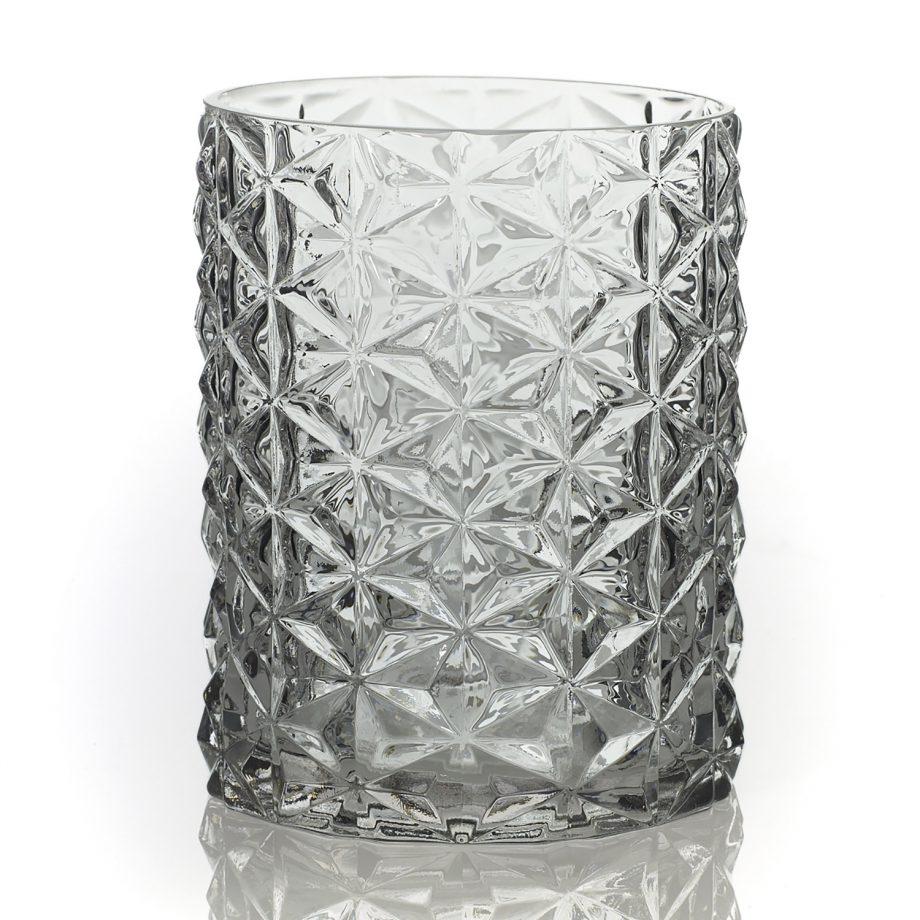 "5.75"" Wickford Geometric Glass Vase"