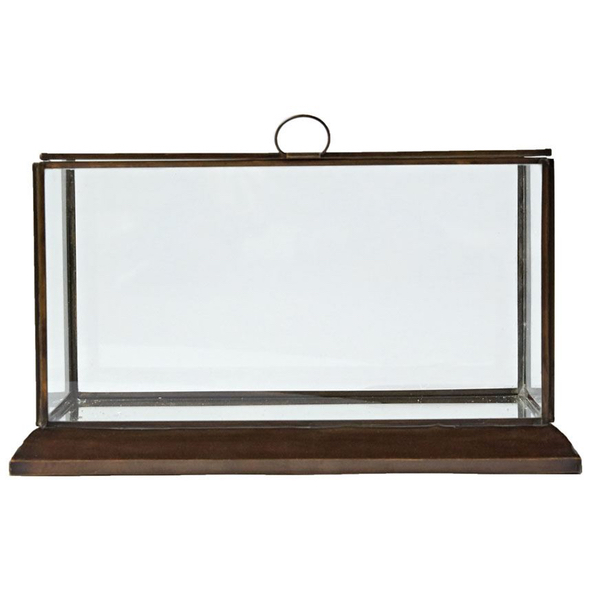 Metal & Glass Decor Box