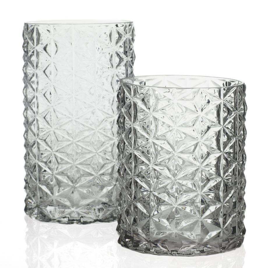 Wickford Geometric Glass Vase