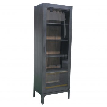 Black metal and glass cabinet