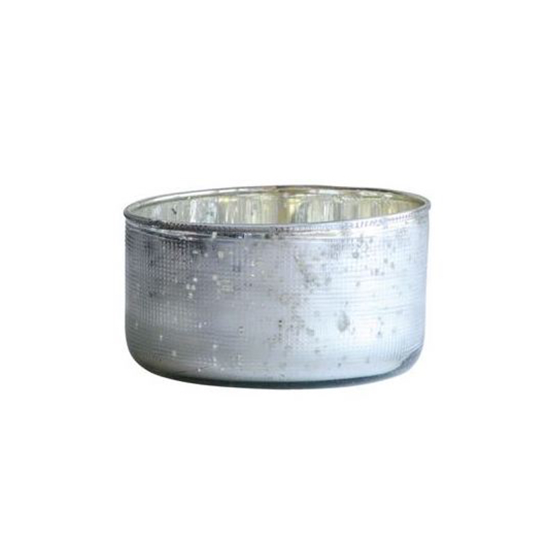 antiqued silver mercury glass votive candle holder