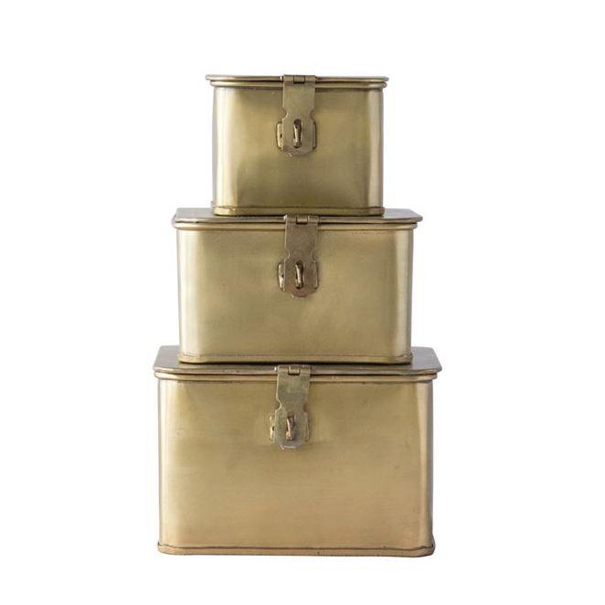 Brass Square Metal Decorative Box
