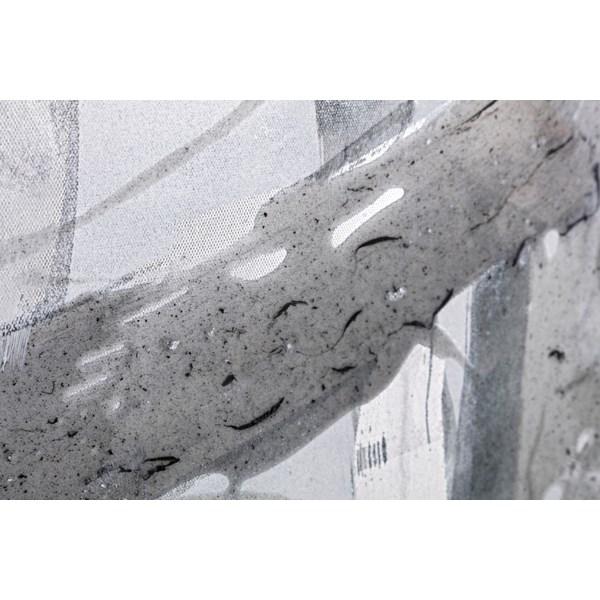 Black White Gray Brushstroke Art