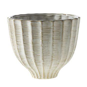 Cape White Tweed Ceramic Vase