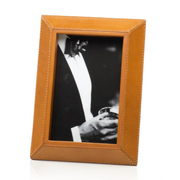 Camel leather picture frame