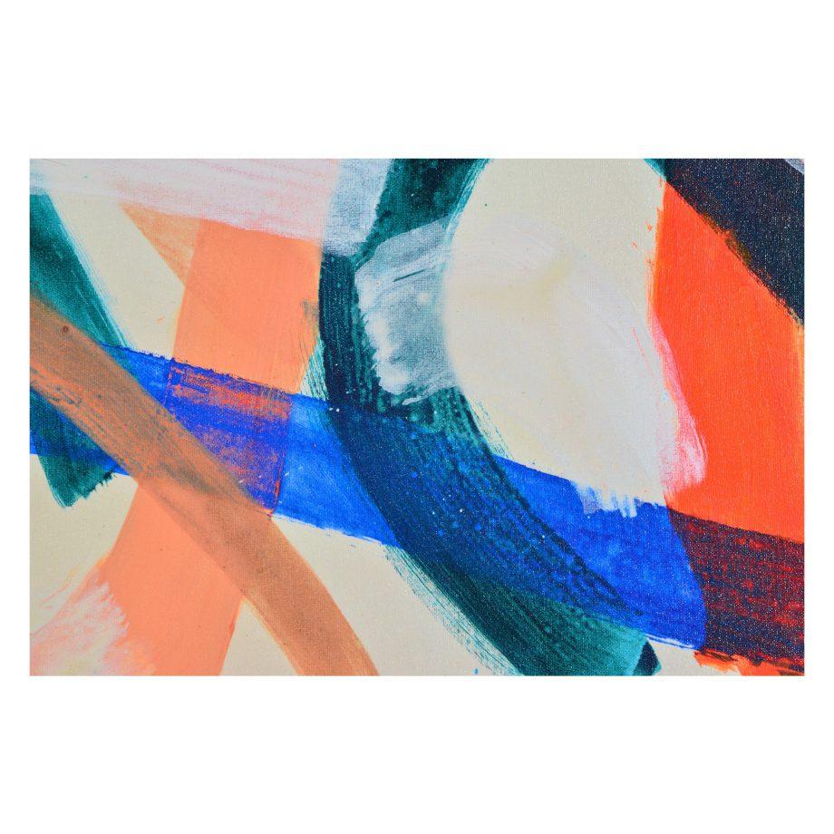 Orange And Blue Brushstroke Art