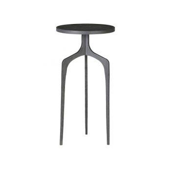 3 Leg Black Metal Side Table