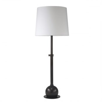 Black Metal Table Lamp with Adjustable Base