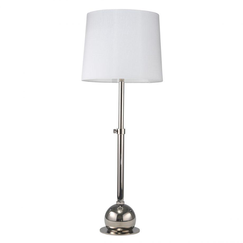 Chrome Table Lamp Adjustable Base