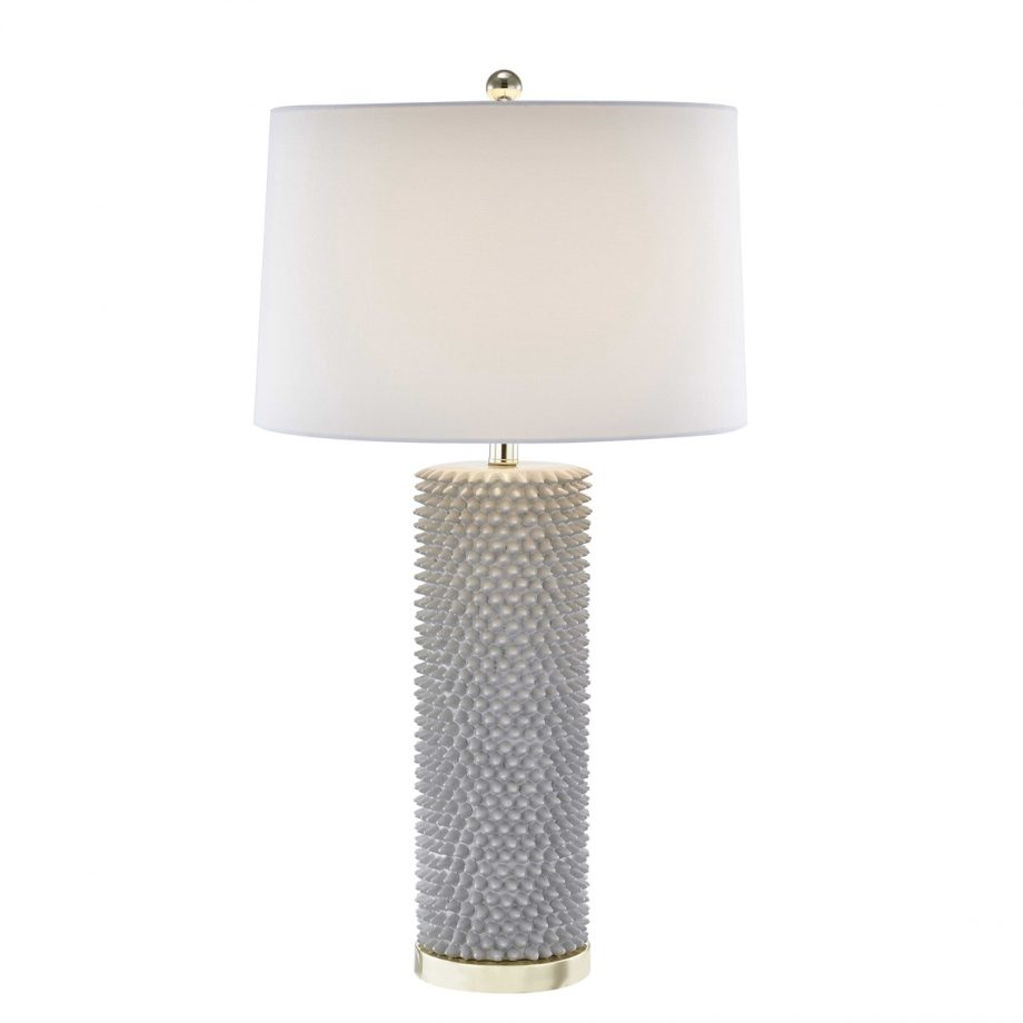 Gray Ceramic Spiky Table Lamp