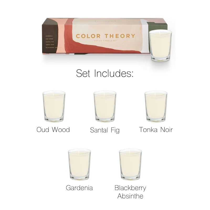 Illume Neutral Essentials Color Theory Votive Candle Set