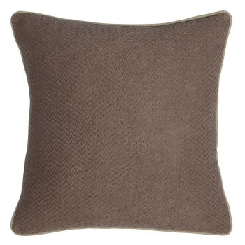 Natural Brown Soft Woven Throw Pillow