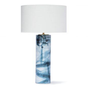 Blue and White Brushstroke Table Lamp