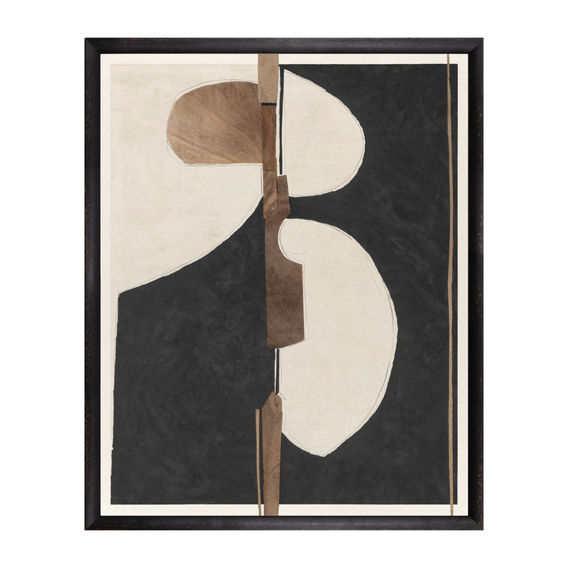 Black And Brown Contemporary Abstract Art