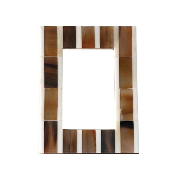 Brown And White Horn Picture Frame