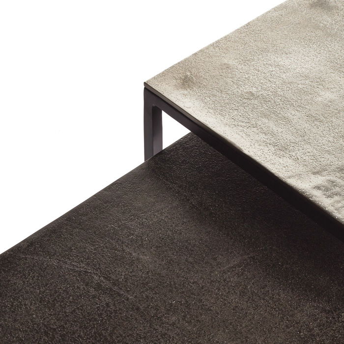 Metal Coffee Table With Nesting Accent Tables