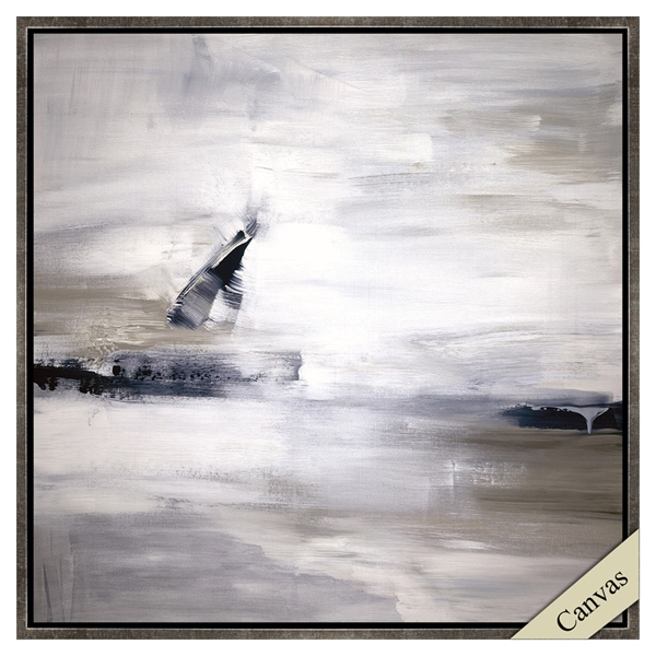 Black and White Neutral Abstract Art