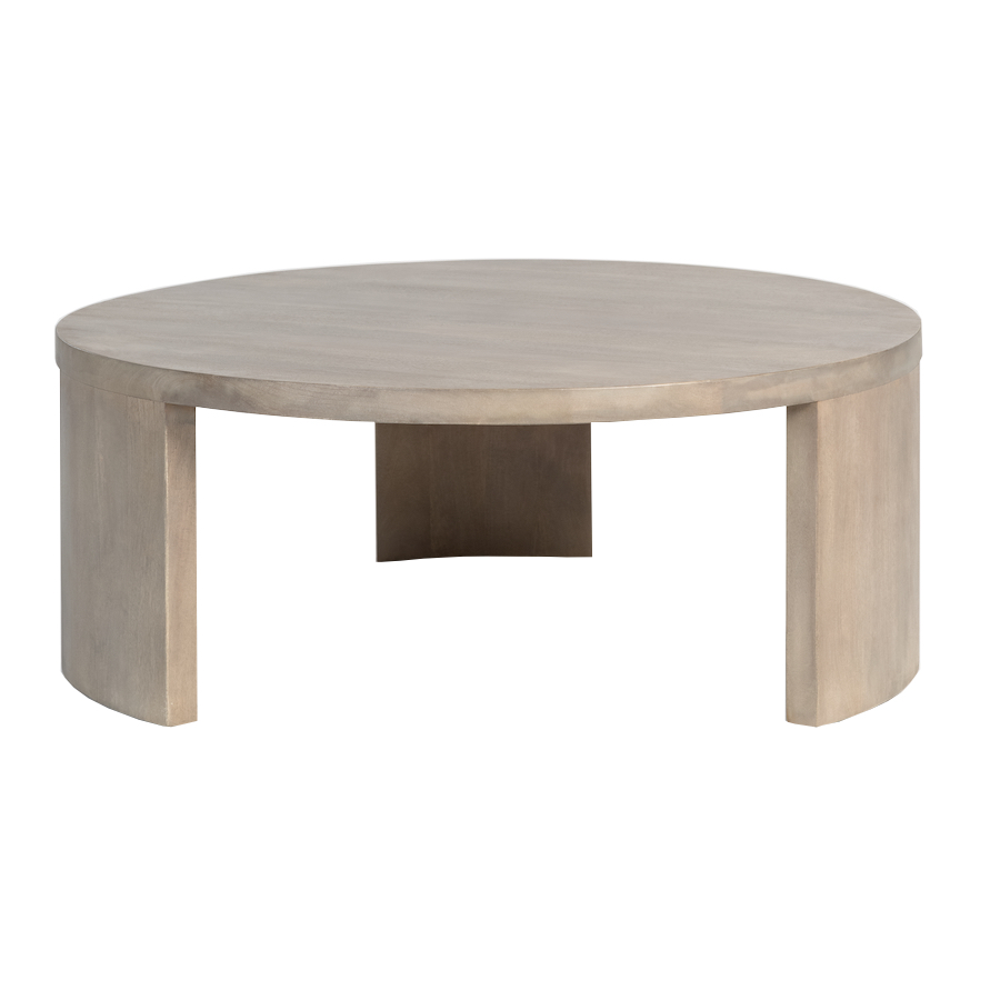 Ash stained mango wood round coffee table