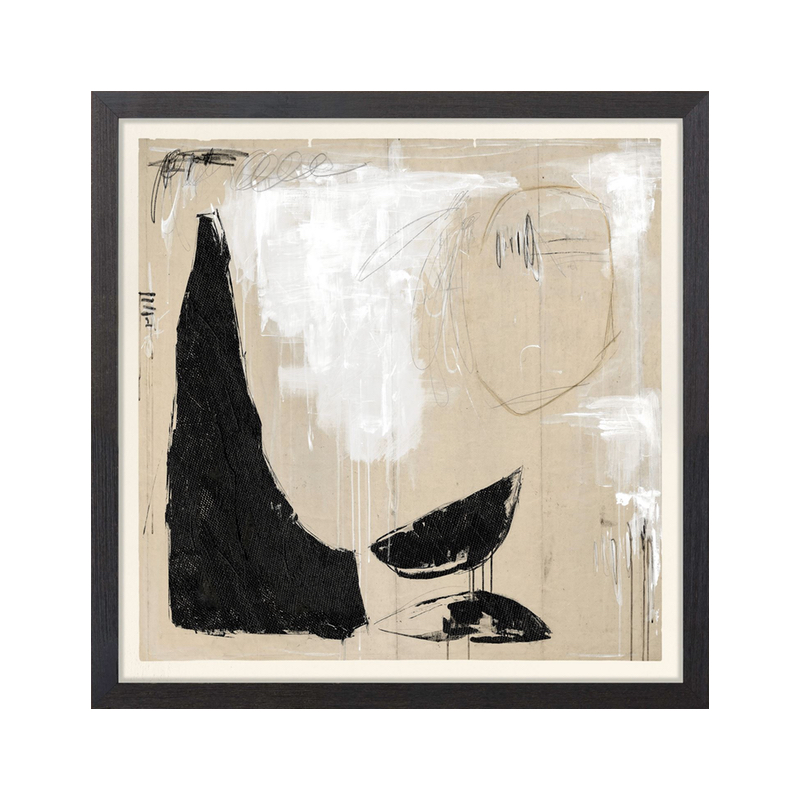 Brown black and white abstract art