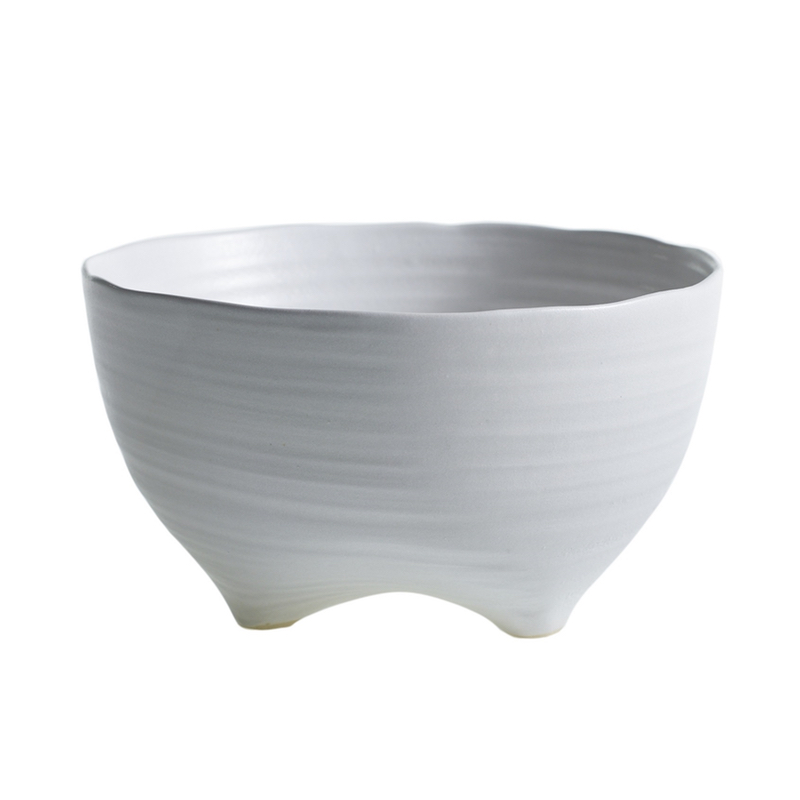 White Freeform Ceramic Bowl