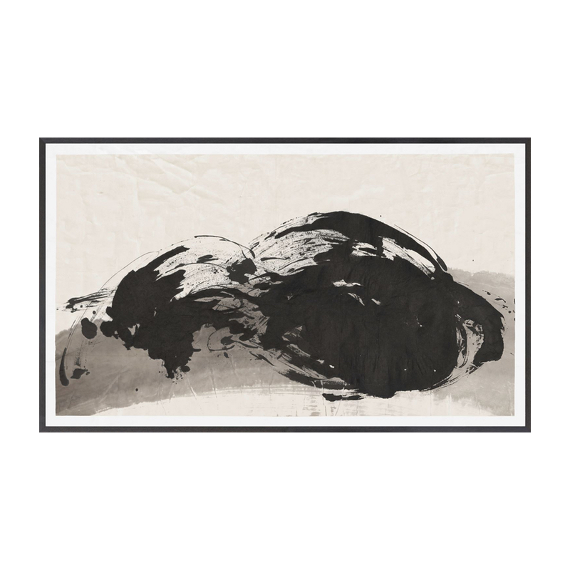 Black And Natural Ink Wash Art