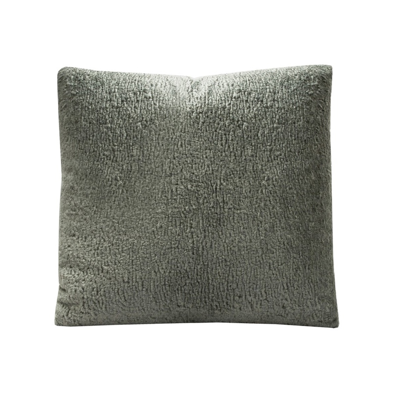 Charcoal Gray Boucle Pillow