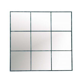 Metal Nine Grid Wall Mirror