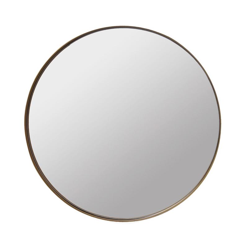 Round Antique Brass Mirror