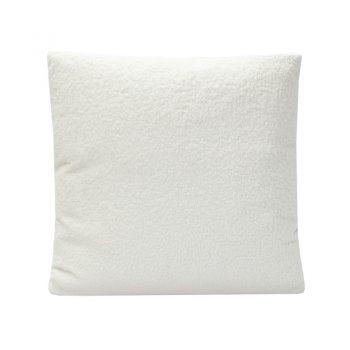 White Boucle Pillow