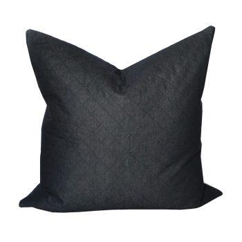 Charcoal Diamond Stitched Pillow