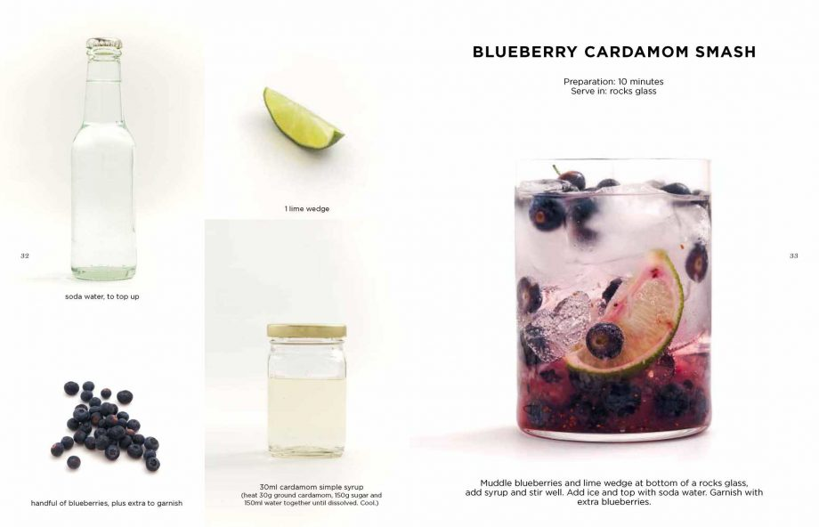 Mocktails Book By Caroline Hwang Blueberry Cardamom Smash
