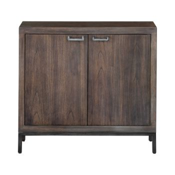 Thin Wood Two Door Console Cabinet