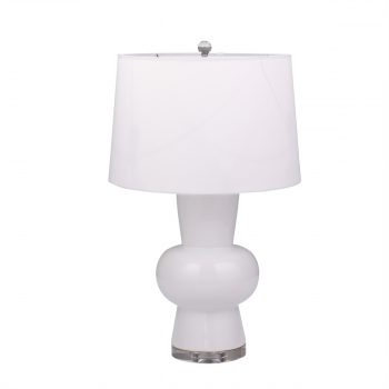 White Ceramic Single Gourd Table Lamp