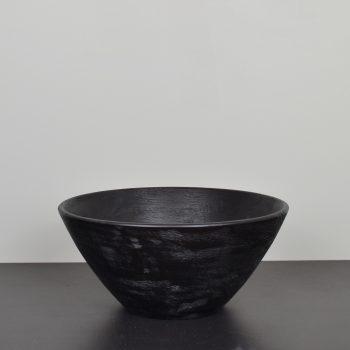 black mango wood salad serving bowl