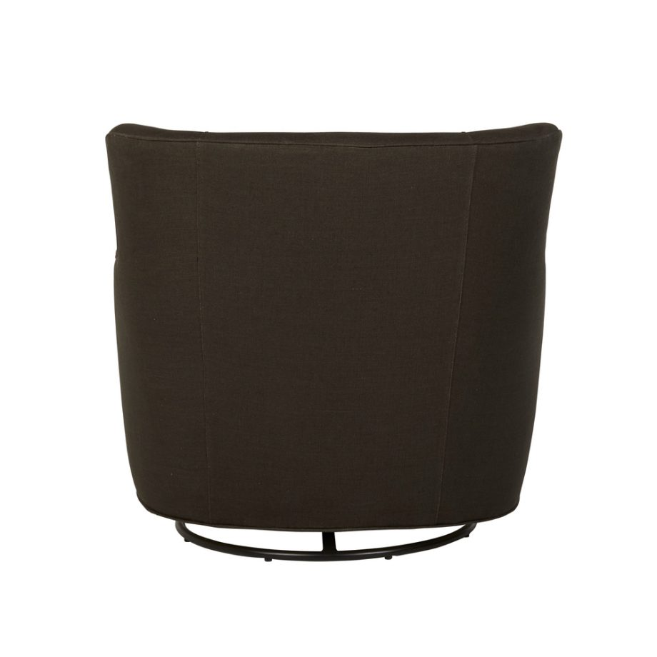 Cisco Brothers Wilson Swivel Club Chair in Charcoal