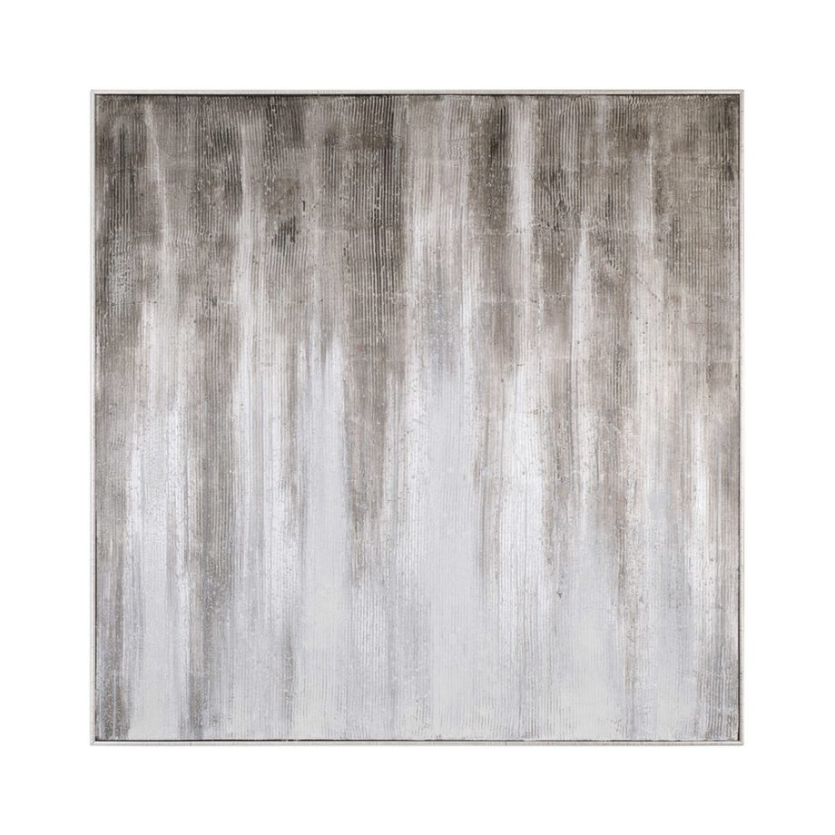 brown gray and white hand painted abstract art