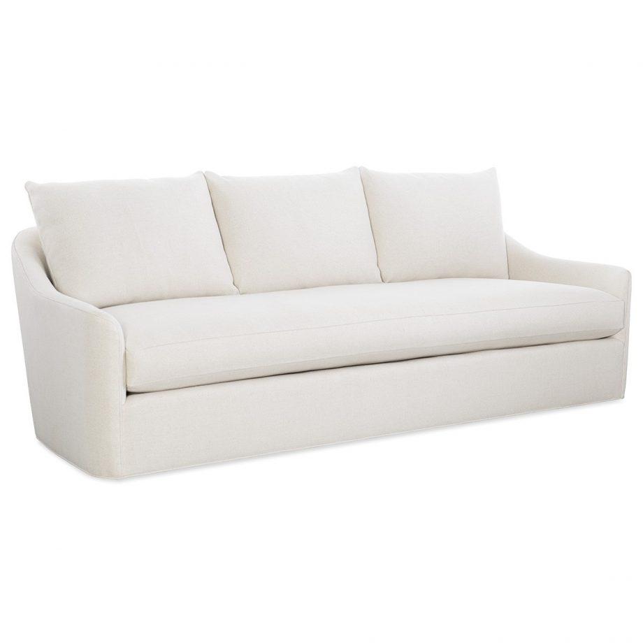 CR Laine barrington long sofa in uncommon natural fabric