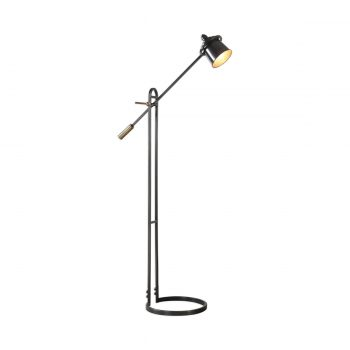 bronze and brass pivot floor lamp