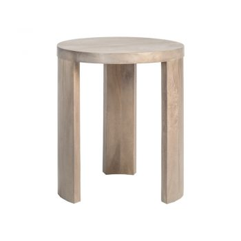 contemporary gray-washed three leg side table