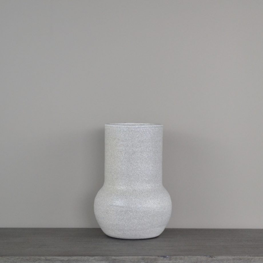 Gray Glazed Terra-Cotta Vase