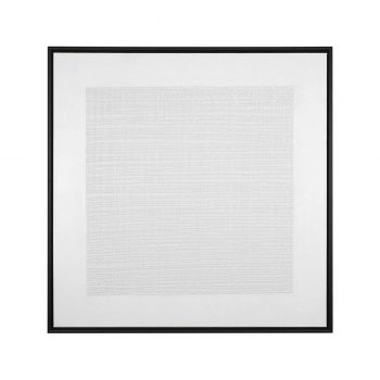 textured all white painted grid canvas art