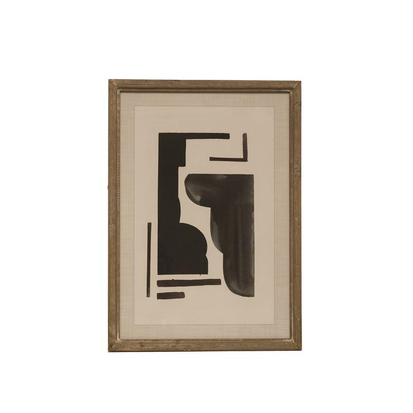 black abstract geometric art