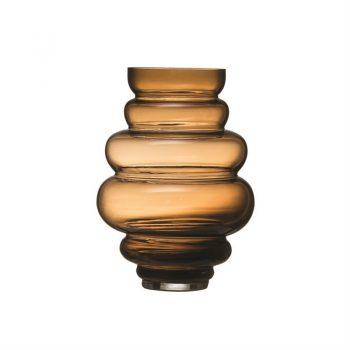 brown glass gourd vase