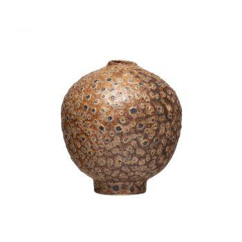 distressed terra-cotta stoneware vase