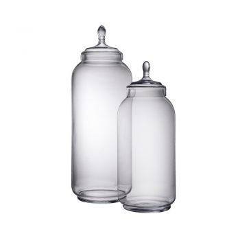 clear oversized glass jar with lid