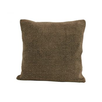 olive green terry cloth throw pillow
