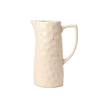 white speckled stoneware pitcher